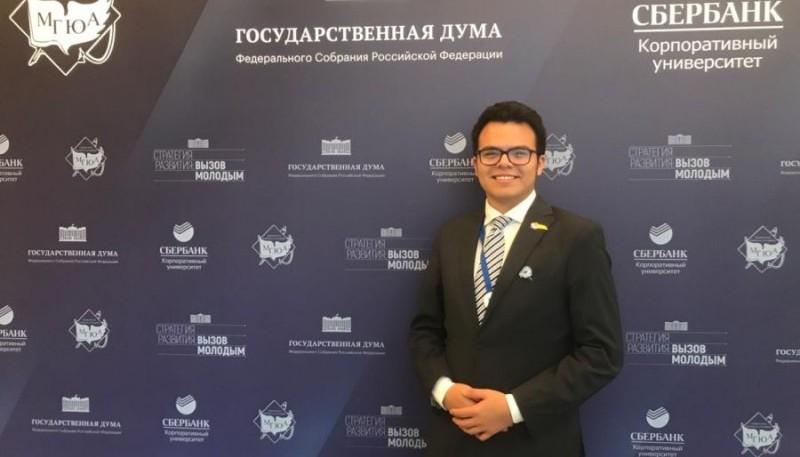 Mateo Brunetti, estudiante de Abogacía de Puerto Deseado