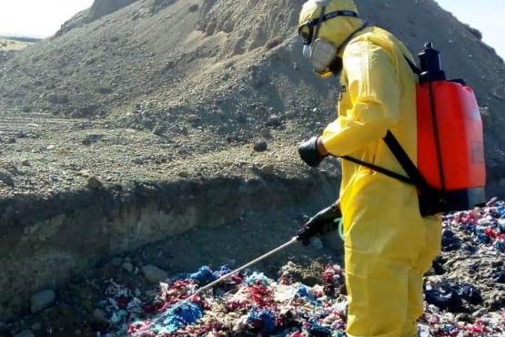 Saneamiento Ambiental realizó fumigación en el vaciadero municipal
