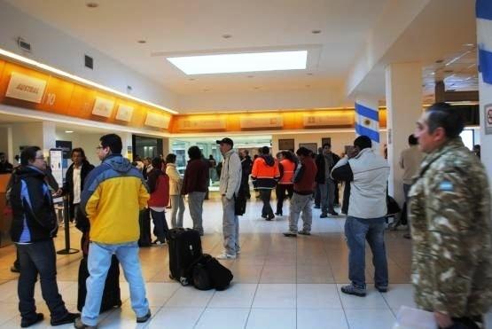 El aeropuerto de Río Gallegos registró una baja interanual
