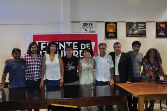 Del Caño acompañó el lanzamiento de Raúl Godoy como candidato a gobernador