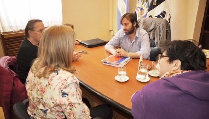 Integrantes de la fundación en Río Gallegos en 2016 (Archivo)