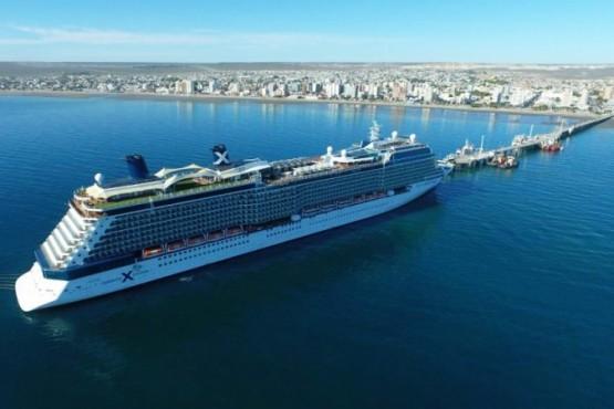 Puerto Madryn recibió un imponente crucero y se prevé temporada récord