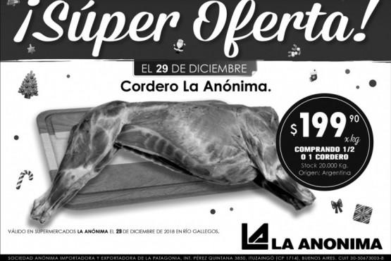 Ofertón en La Anónima: cordero a $199.90