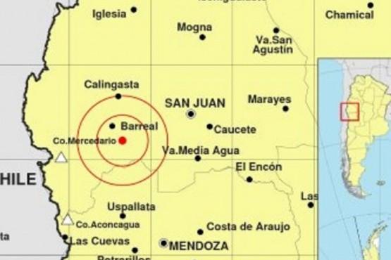 Un sismo de 5,4 grados en la escala de Richter sacudió a San Juan
