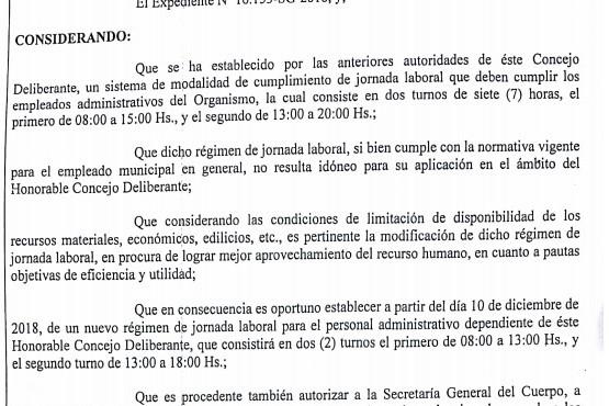 """Leguizamón dijo que fue un """"acto de demagogia"""" bajar a cinco horas la jornada laboral en el Deliberante"""