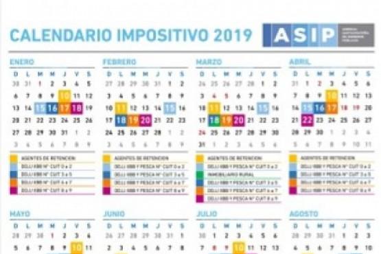 La ASIP informó el Calendario Impositivo 2019