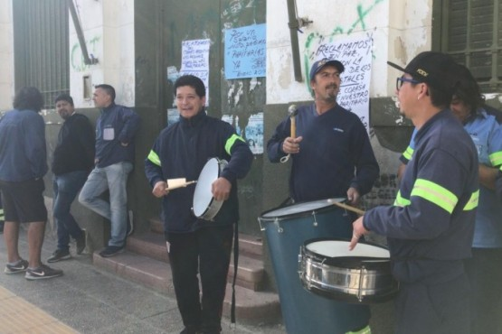 Reclamo de trabajadores del correo argentino