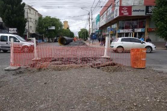 Corte en Rivadavia por obras de pluviales