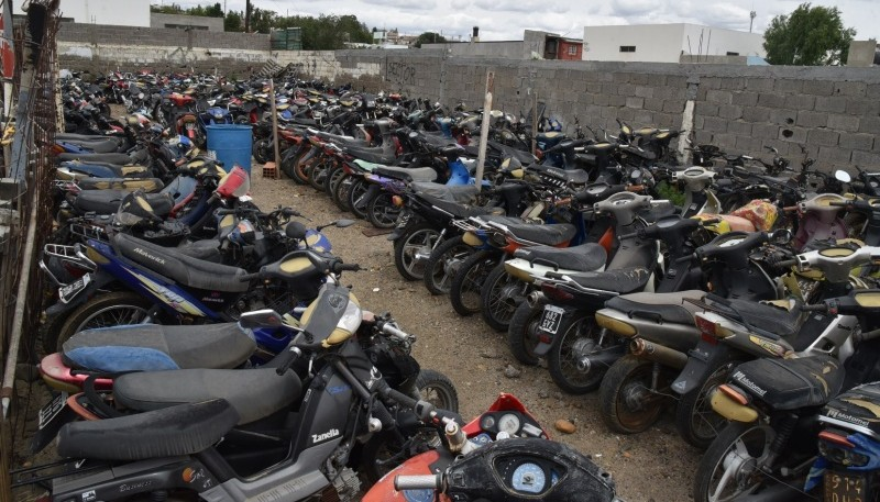 A medida que pasa el tiempo se incrementa el parque de motocicletas de baja cilindrada que en su mayoría fueron incautadas por falta de documentación.