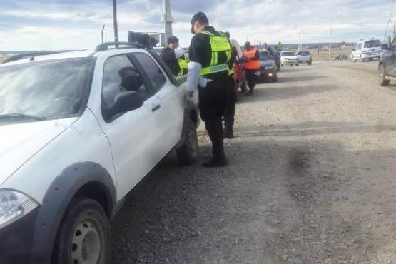 Siguen los controles de tránsito en distintos puntos de Río Gallegos