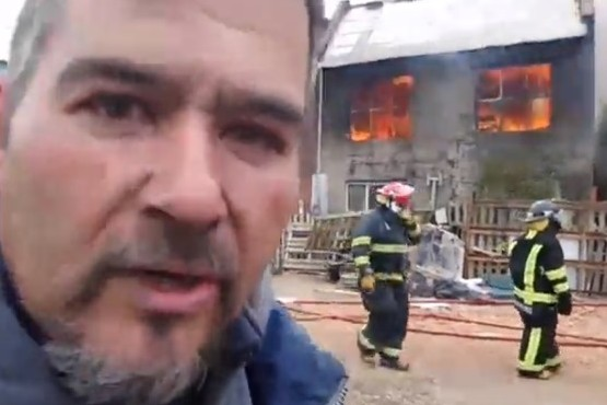 """""""Esto se podía haber evitado, yo avise que acá al lado comenzaba el incendio"""""""