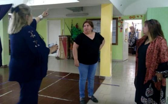 Mantenimiento en los colegios de Caleta Olivia y Pico Truncado