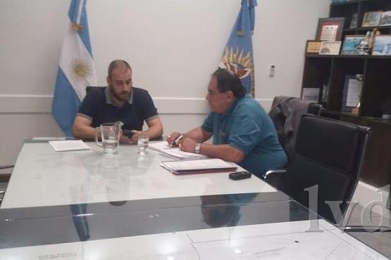 Primera reunión de 2019 entre el jefe comunal Facundo Padres y Julián Carrizo