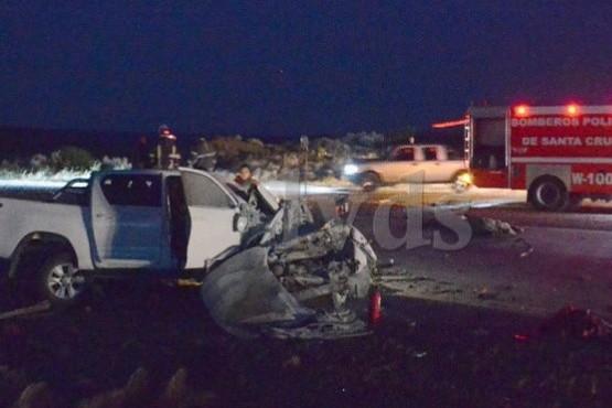 Cinco fallecidos en el trágico choque a 15 km de Caleta Olivia