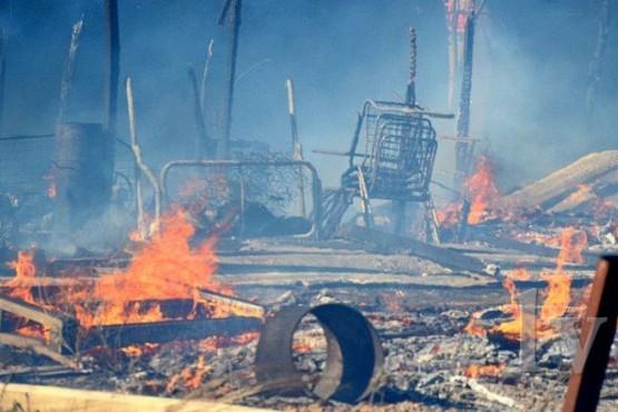 Se incendió una chacra y murieron 100 conejos y 150 gallinas