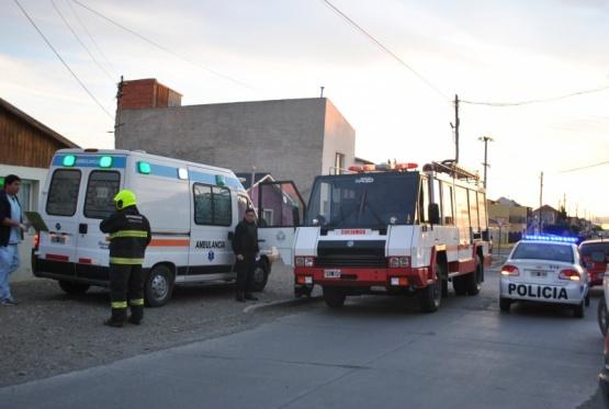 Emergencia domestica terminó con una joven herida