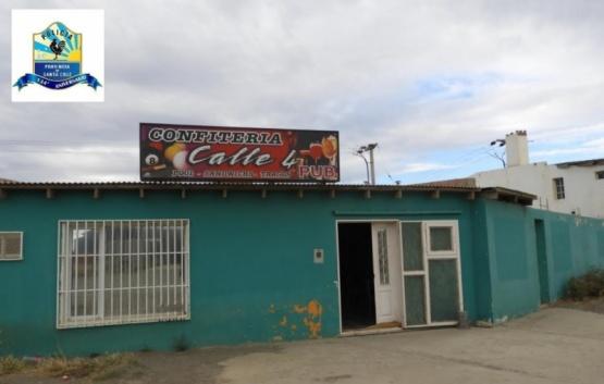 El bar donde realizaron el allanamiento.