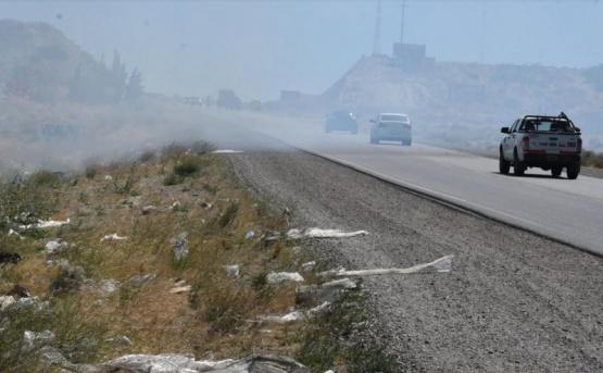 Incendio en basural redujo al Mínimo la visibilidad en Ruta 3