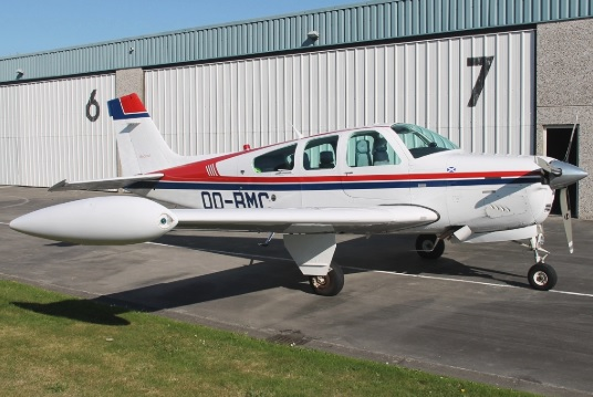 Avioneta Beechcraft Bonanza. (Ilustrativa)