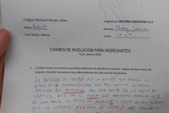 """Hizo el examen de ingreso con lenguaje inclusivo: le pusieron un """"une"""""""