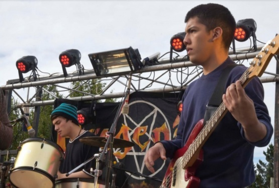 Gran participación en el festival de rock