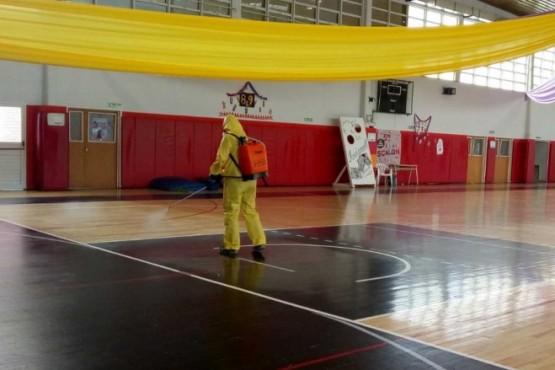 Realizaron limpieza y desinfección en gimnasios municipales
