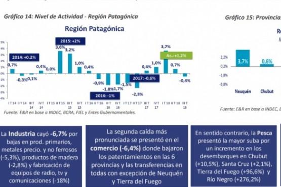 Aunque fue la región que menos cayó, la Patagonia no se salvó de la debacle