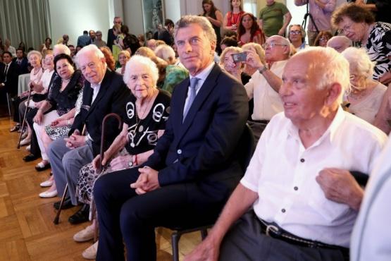 Macri encabezó el acto por el Día Internacional de Conmemoración en Memoria de las Víctimas del Holocausto