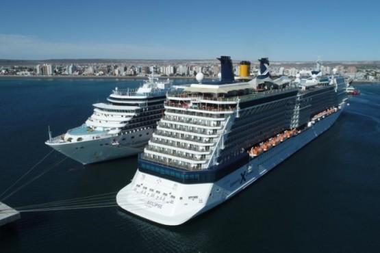 Grandes cruceros en Puerto Madryn