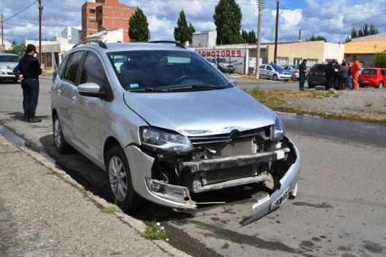 La calle Alfonsín fue escenario de dos colisiones