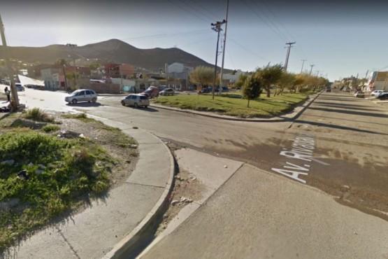 El Sector de Los Pensamientos y Rivadavia en donde fue interceptada la joven de 24 años que resultó violada el miércoles a la noche