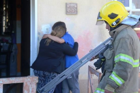Gran susto se llevó una familia por un principio de incendio