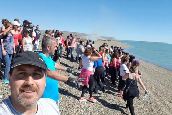 Se realizó limpieza de la costanera en Puerto Santa Cruz