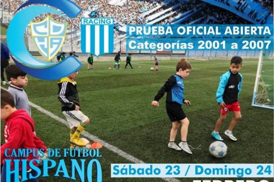Racing Club buscará talentos en Río Gallegos