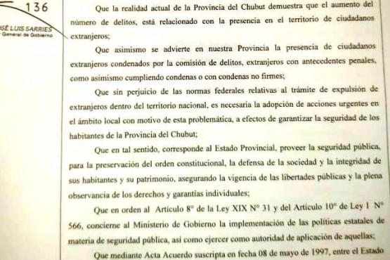 """El aumento de los delitos """"está relacionado con la presencia de extranjeros"""""""