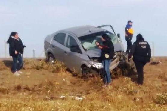 Murió una mujer al volcar a la altura del Autódromo de Río Gallegos