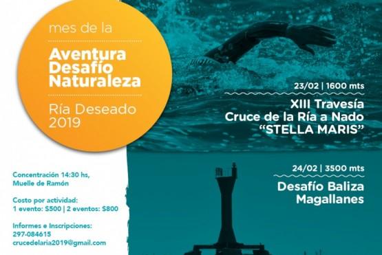 Se realiza el 13° Cruce de la Ría Deseado a Nado y el 2° Desafío de Magallanes
