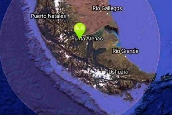 Hubo un sismo de 4.1 grados en Punta Arenas
