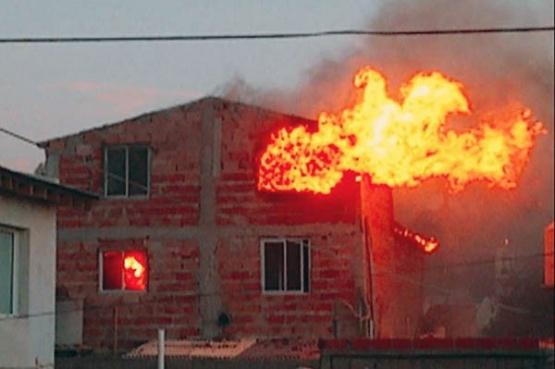 Madryn: Se quemó una casa por un descuido