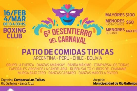 Se realiza la 6° Edición de Desentierro del Carnaval