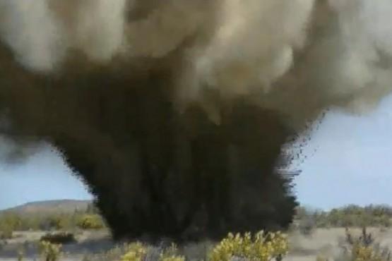 Detonaron explosivos hallados en una cantera