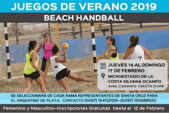 Se definen representantes de Handball y Voley playa
