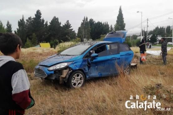 Dos heridos en violento choque en El Calafate