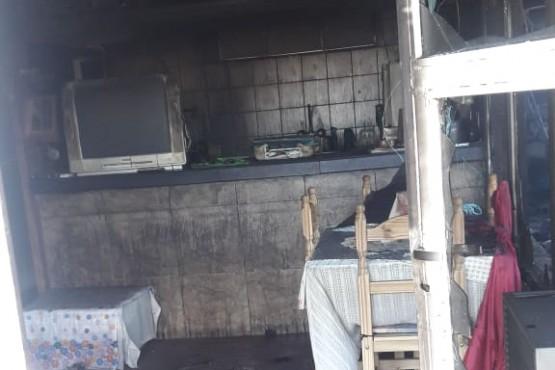 Se incendió una casa en el San Benito