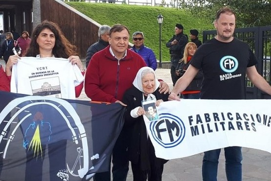 Nora Cortiñas arribó a El Calafate con el reclamo por YCRT
