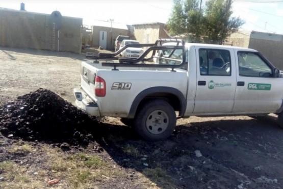 Siguen entregando carbón para el invierno.