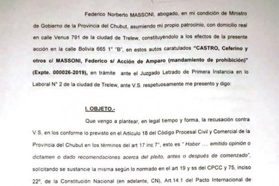 Massoni recusó al juez que impide mostrar rostros de los abusadores