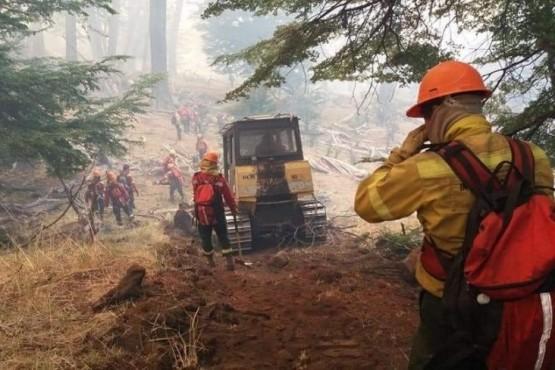 Controlaron el incendio en Alto Río Corinto