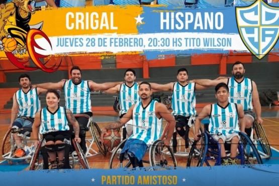 CRiGaL visita a Hispano en un partido muy especial