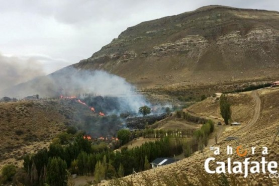 Hubo alarma por incendio en el cañadón del Arroyo Calafate